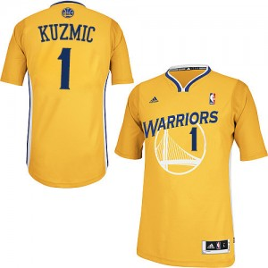 Maillot Adidas Or Alternate Swingman Golden State Warriors - Ognjen Kuzmic #1 - Homme