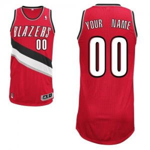 Maillot NBA Portland Trail Blazers Personnalisé Authentic Rouge Adidas Alternate - Homme