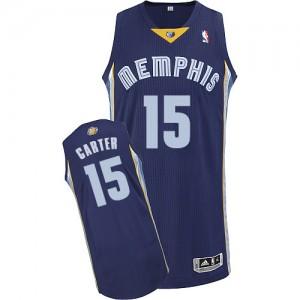 Maillot NBA Authentic Vince Carter #15 Memphis Grizzlies Road Bleu marin - Homme