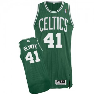 Maillot NBA Boston Celtics #41 Kelly Olynyk Vert (No Blanc) Adidas Authentic Road - Homme