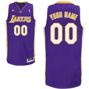 Los Angeles Lakers Personnalisé Adidas Road Violet Maillot d'équipe de NBA en vente en ligne - Swingman pour Homme