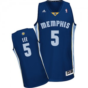Memphis Grizzlies Courtney Lee #5 Road Swingman Maillot d'équipe de NBA - Bleu marin pour Homme