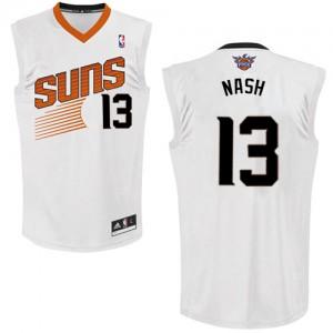 Phoenix Suns #13 Adidas Home Blanc Authentic Maillot d'équipe de NBA Soldes discount - Steve Nash pour Homme