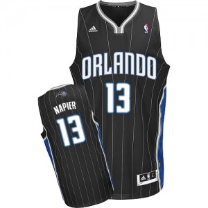 Maillot NBA Orlando Magic #13 Shabazz Napier Noir Adidas Swingman Alternate - Homme