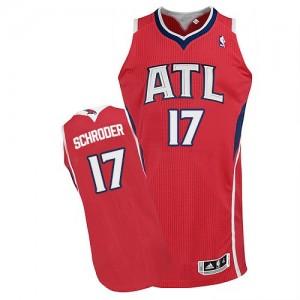 Atlanta Hawks #17 Adidas Alternate Rouge Authentic Maillot d'équipe de NBA 100% authentique - Dennis Schroder pour Homme