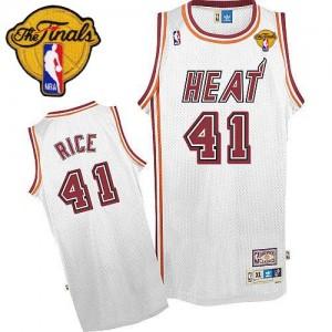 Miami Heat #41 Adidas Throwback Finals Patch Blanc Authentic Maillot d'équipe de NBA préférentiel - Glen Rice pour Homme