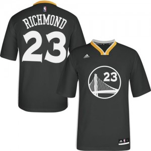 Maillot Adidas Noir Alternate Swingman Golden State Warriors - Mitch Richmond #23 - Homme