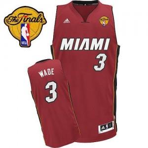 Maillot NBA Miami Heat #3 Dwyane Wade Rouge Adidas Swingman Alternate Finals Patch - Homme