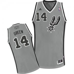 San Antonio Spurs #14 Adidas Alternate Gris argenté Swingman Maillot d'équipe de NBA Remise - Danny Green pour Homme