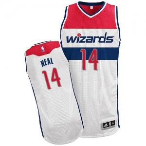 Washington Wizards #14 Adidas Home Blanc Authentic Maillot d'équipe de NBA à vendre - Gary Neal pour Homme