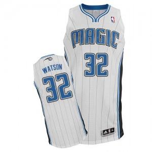 Orlando Magic C.J. Watson #32 Home Authentic Maillot d'équipe de NBA - Blanc pour Homme