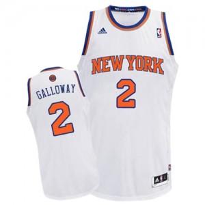 New York Knicks #2 Adidas Home Blanc Swingman Maillot d'équipe de NBA 100% authentique - Langston Galloway pour Homme