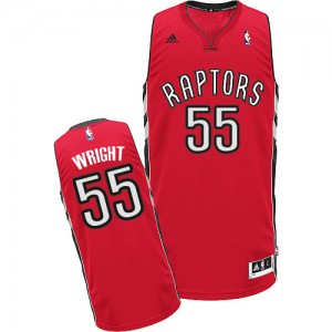 Maillot Adidas Rouge Road Swingman Toronto Raptors - Delon Wright #55 - Homme