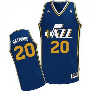 Maillot NBA Utah Jazz #20 Gordon Hayward Bleu marin Adidas Swingman Road - Homme