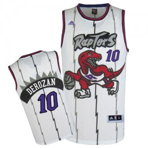 Maillot Adidas Blanc Throwback Authentic Toronto Raptors - DeMar DeRozan #10 - Homme