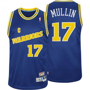 Maillot Adidas Bleu Throwback Authentic Golden State Warriors - Chris Mullin #17 - Homme