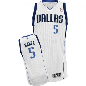 Maillot Adidas Blanc Home Authentic Dallas Mavericks - Jose Juan Barea #5 - Homme