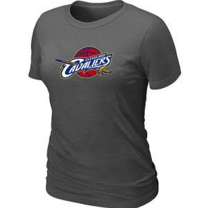 T-shirt principal de logo Cleveland Cavaliers NBA Big & Tall Gris foncé - Femme