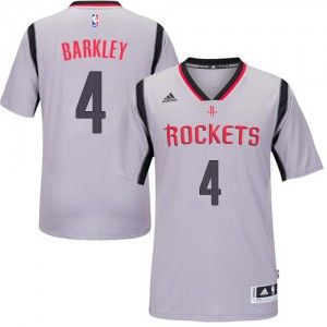 Maillot Authentic Houston Rockets NBA Alternate Gris - #4 Charles Barkley - Homme