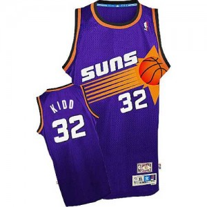 Maillot NBA Violet Jason Kidd #32 Phoenix Suns Throwback Swingman Homme Adidas