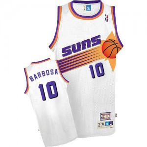 Maillot Mitchell and Ness Blanc Throwback Swingman Phoenix Suns - Leandro Barbosa #10 - Homme