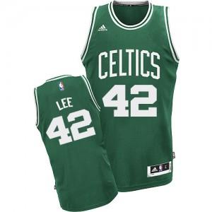 Boston Celtics David Lee #42 Road Swingman Maillot d'équipe de NBA - Vert (No Blanc) pour Homme