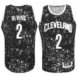 Cleveland Cavaliers Kyrie Irving #2 City Light Authentic Maillot d'équipe de NBA - Noir pour Homme