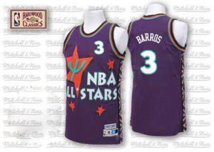 Maillot Adidas Violet Throwback 1995 All Star Authentic Philadelphia 76ers - Dana Barros #3 - Homme