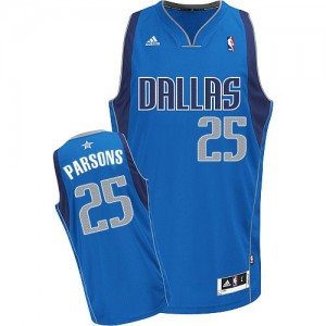 Maillot Adidas Bleu royal Road Swingman Dallas Mavericks - Chandler Parsons #25 - Homme