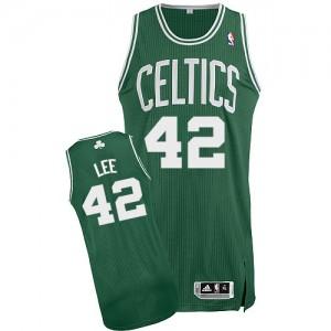 Boston Celtics David Lee #42 Road Authentic Maillot d'équipe de NBA - Vert (No Blanc) pour Homme