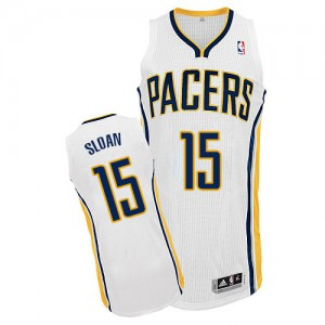 Maillot NBA Blanc Donald Sloan #15 Indiana Pacers Home Authentic Homme Adidas