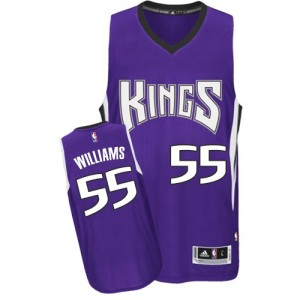 Maillot NBA Authentic Jason Williams #55 Sacramento Kings Road Violet - Homme