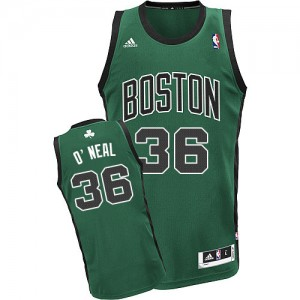 Maillot NBA Boston Celtics #36 Shaquille O'Neal Vert (No. noir) Adidas Swingman Alternate - Homme