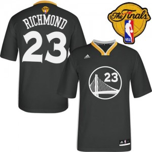 Maillot Adidas Noir Alternate 2015 The Finals Patch Swingman Golden State Warriors - Mitch Richmond #23 - Homme