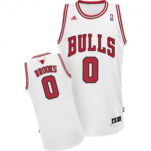 Maillot NBA Chicago Bulls #0 Aaron Brooks Blanc Adidas Swingman Home - Homme