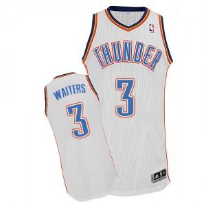 Oklahoma City Thunder Dion Waiters #3 Home Authentic Maillot d'équipe de NBA - Blanc pour Homme