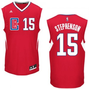 Maillot NBA Rouge Lance Stephenson #15 Los Angeles Clippers Road Authentic Homme Adidas