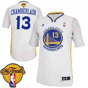 Maillot Swingman Golden State Warriors NBA Alternate 2015 The Finals Patch Blanc - #13 Wilt Chamberlain - Homme