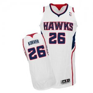 Atlanta Hawks #26 Adidas Home Blanc Authentic Maillot d'équipe de NBA vente en ligne - Kyle Korver pour Homme