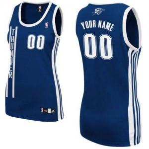 Maillot NBA Authentic Personnalisé Oklahoma City Thunder Alternate Bleu marin - Femme