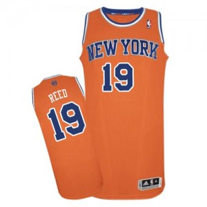 Maillot Adidas Orange Alternate Authentic New York Knicks - Willis Reed #19 - Homme