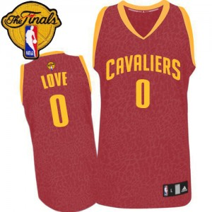 Maillot Adidas Rouge Crazy Light 2015 The Finals Patch Swingman Cleveland Cavaliers - Kevin Love #0 - Homme