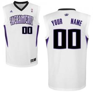 Maillot NBA Blanc Swingman Personnalisé Sacramento Kings Home Homme Adidas