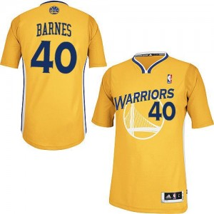 Maillot NBA Golden State Warriors #40 Harrison Barnes Or Adidas Authentic Alternate - Homme