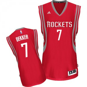 Maillot NBA Houston Rockets #7 Sam Dekker Rouge Adidas Swingman Road - Homme