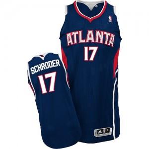 Atlanta Hawks #17 Adidas Road Bleu marin Authentic Maillot d'équipe de NBA Vente - Dennis Schroder pour Homme