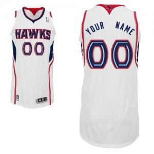 Atlanta Hawks Authentic Personnalisé Home Maillot d'équipe de NBA - Blanc pour Homme