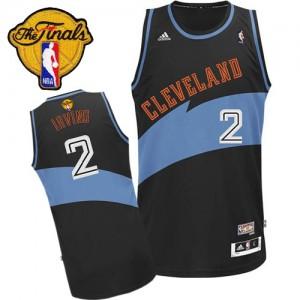 Cleveland Cavaliers Kyrie Irving #2 ABA Hardwood Classic 2015 The Finals Patch Authentic Maillot d'équipe de NBA - Noir pour Homme