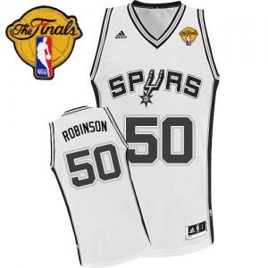 San Antonio Spurs #50 Adidas Home Finals Patch Blanc Swingman Maillot d'équipe de NBA la vente - David Robinson pour Homme