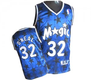 Maillot NBA Bleu royal Shaquille O'Neal #32 Orlando Magic All Star Authentic Homme Adidas